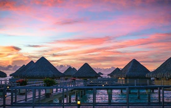 Sunrise in Bora Bora