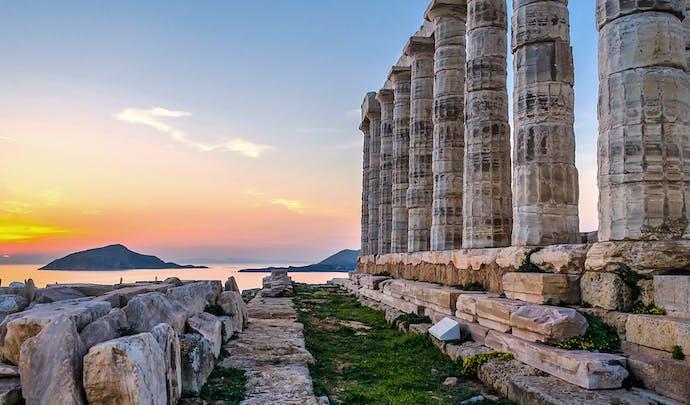 Temple Poseidon in Athens