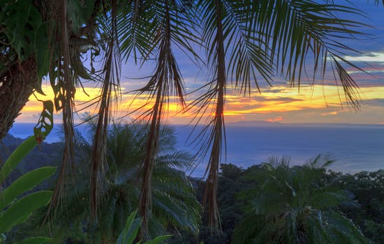 Nicoya Peninsula at sunset, Costa Rica