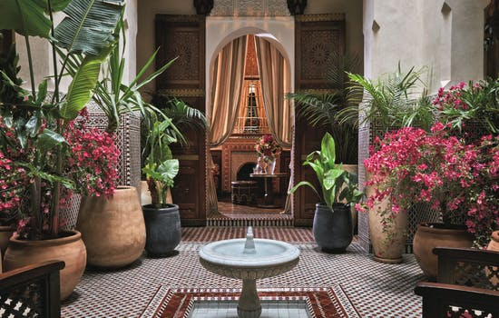 The Royal Mansour Hotel courtyard
