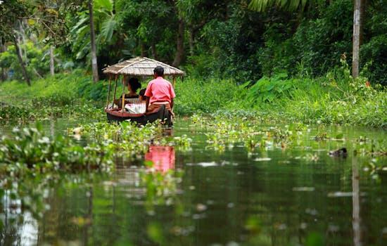 Backwaters of Kerela in India