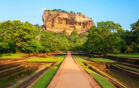 Sigiraya ancient rock in Sri Lanka