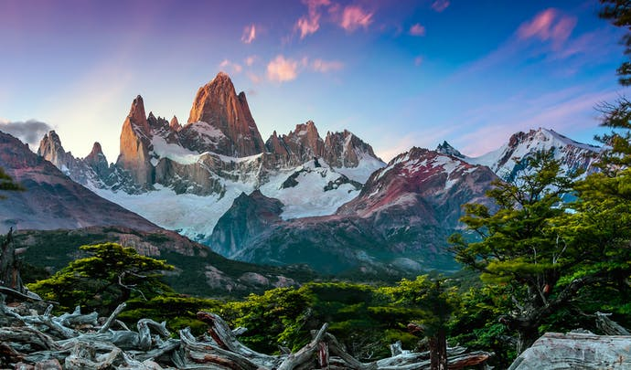 Fitz Roy Mountain on the border of Argentina and Chile