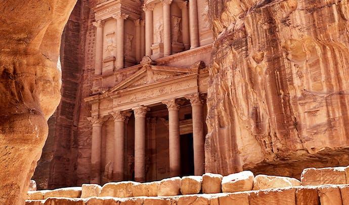 Petra lost city ruins, Jordan