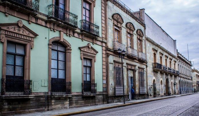 Oaxaca street in Mexico