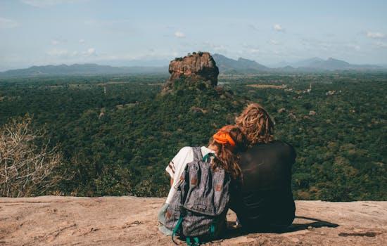 Sigirya rock in Sri Lanka