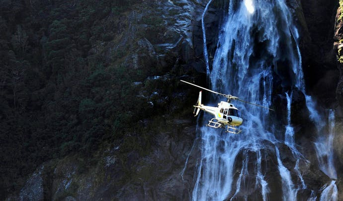 Helicopter ride to Milford Sound