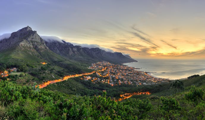 Cape Town view in South Africa
