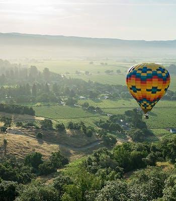 Hot air ballooning holiday over Napa Valley