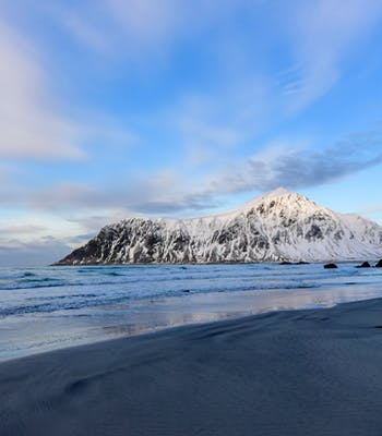 Lofoten Islands peak Norway